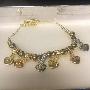 Jewelry - Gold Filled Multi-Color Love Charm Bracelet